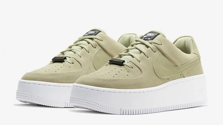 Nike Air Force 1 Sage Low Olive Aura AR5339-301 front thumbnail image