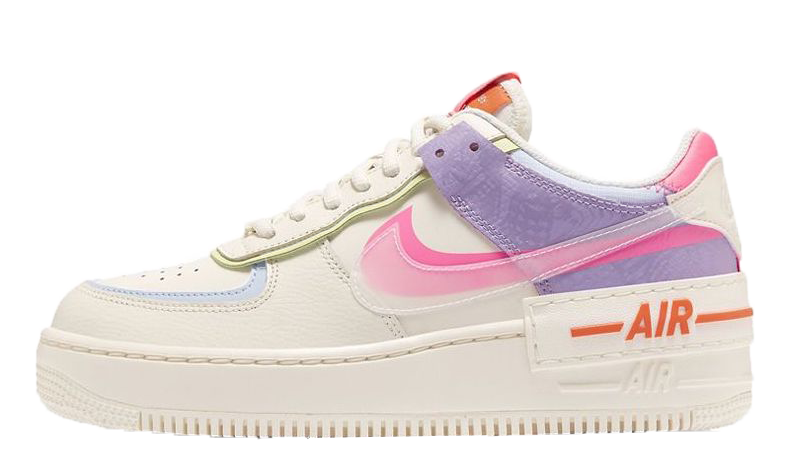 Nike Air Force 1 Shadow Gel Pale Ivory Multi | CU3012-164