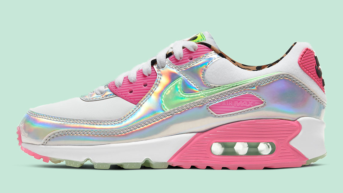 Nike Air MAx 90 Iridescent side copy
