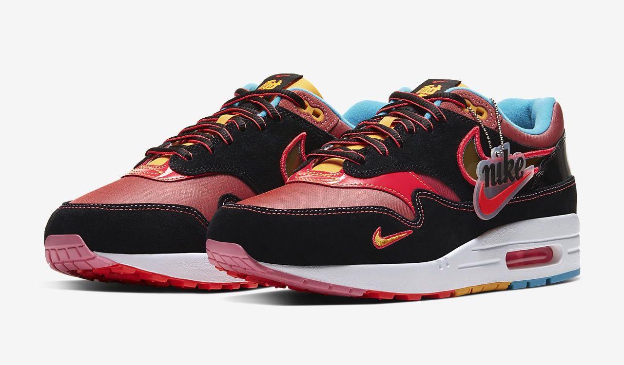 Nike Air Max 1 NYC Chinatown Black red