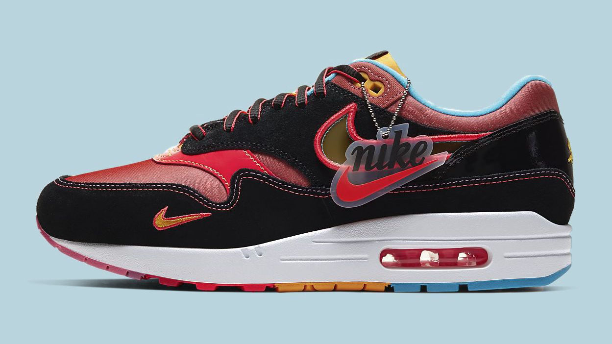 Nike Air Max 1 NYC Chinatown Black red side copy