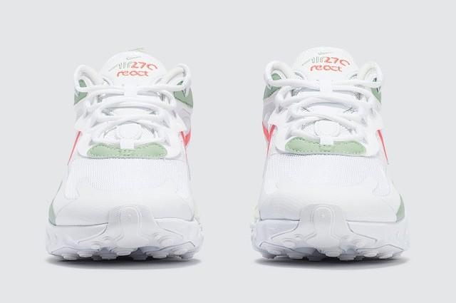 Nike Air Max 270 React White Pistachio Frost front
