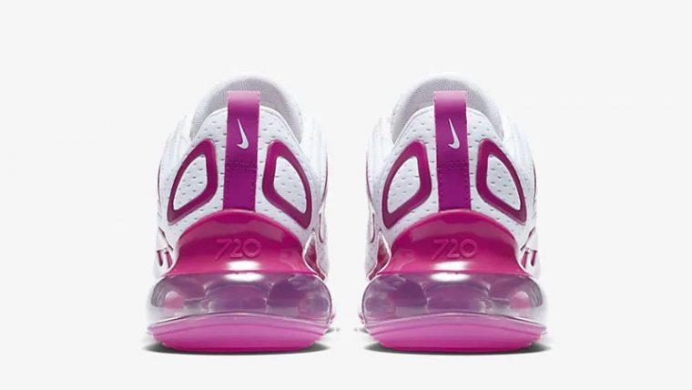 Nike Air Max 720 White Fire Pink CN9506-100 back thumbnail image