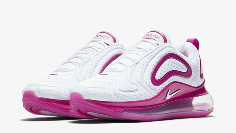 Nike Air Max 720 White Fire Pink CN9506-100 front thumbnail image