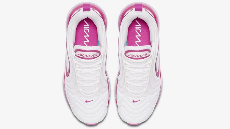 Nike Air Max 720 White Fire Pink CN9506-100 middle thumbnail image