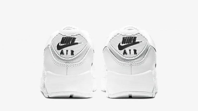 Nike Air Max 90 White Black CQ2560-101 back thumbnail image