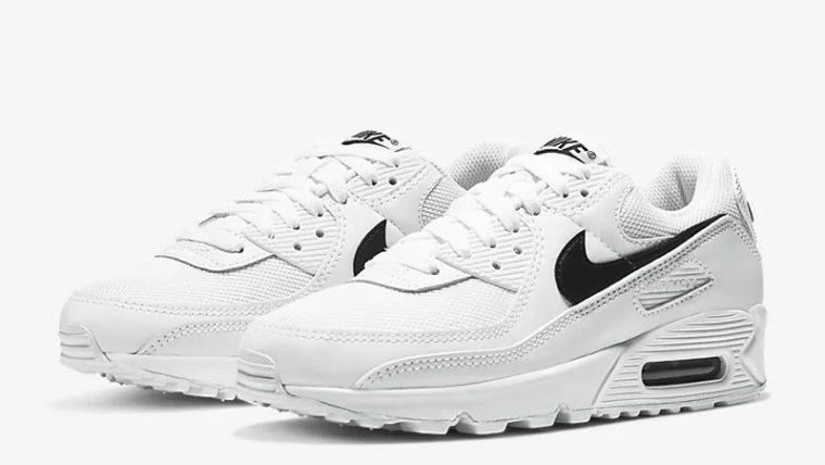 Nike Air Max 90 White Black CQ2560-101 front thumbnail image