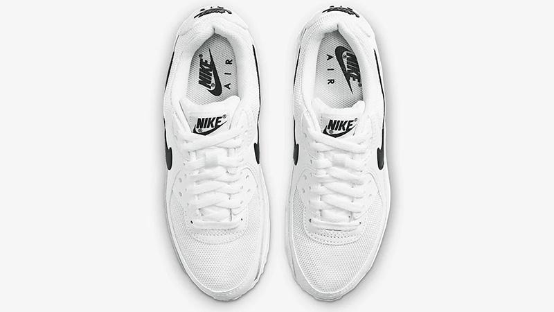 Nike Air Max 90 White Black CQ2560-101 middle