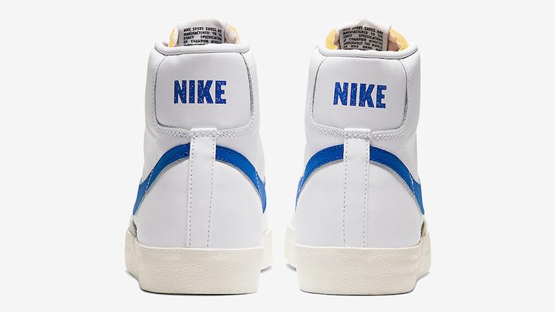 Nike Blazer Mid 77 Vintage White Royal Blue BQ6806-103 back