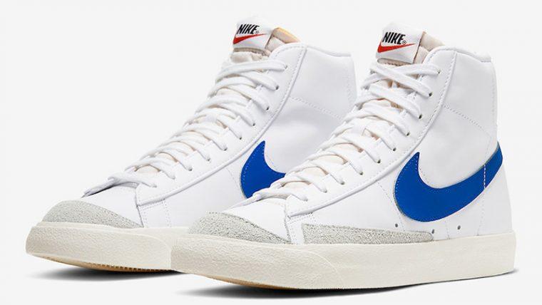 Nike Blazer Mid 77 Vintage White Royal Blue BQ6806-103 front thumbnail image