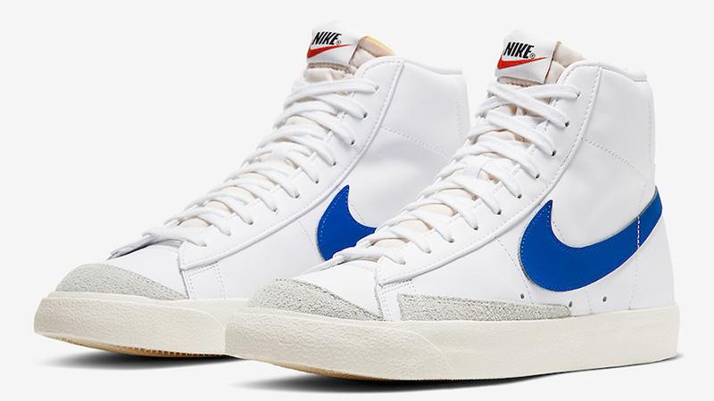 Nike Blazer Mid 77 Vintage White Royal Blue BQ6806-103 front