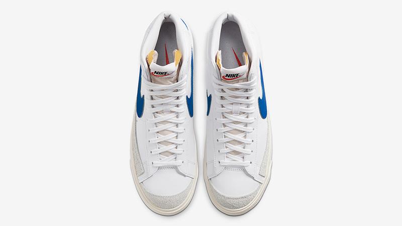 Nike Blazer Mid 77 Vintage White Royal Blue BQ6806-103 middle