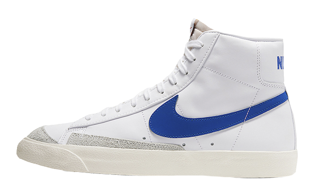 Nike Blazer Mid 77 Vintage White Royal Blue BQ6806-103