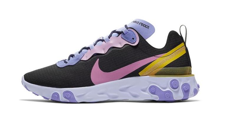 Nike React Element 55 Black Purple
