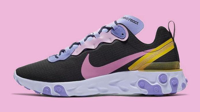 Nike React Element 55 Black Purple copy