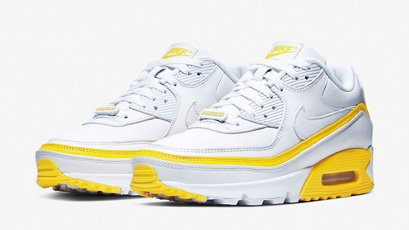 UNDEFEATED x Nike Air Max 90 White Yellow CJ7197-101 front