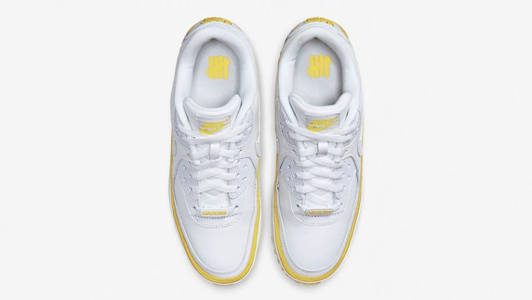 UNDEFEATED x Nike Air Max 90 White Yellow CJ7197-101 middle thumbnail image