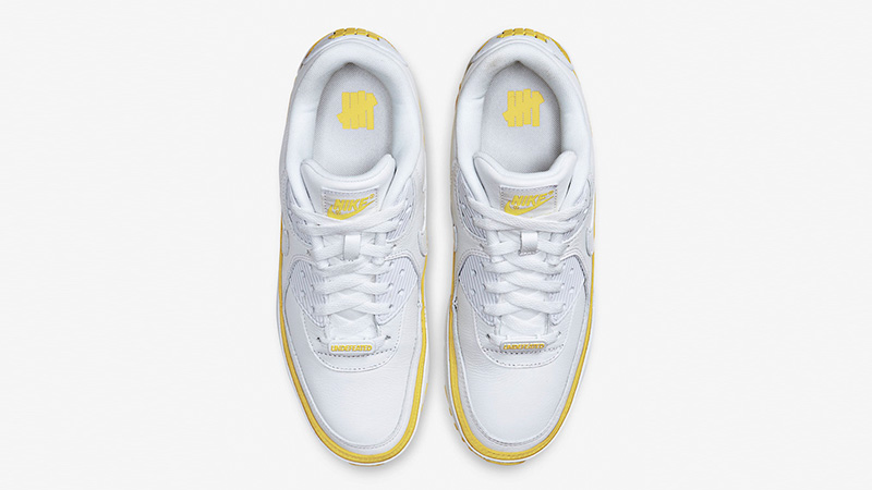UNDEFEATED x Nike Air Max 90 White Yellow CJ7197-101 middle