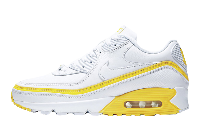 UNDEFEATED x Nike Air Max 90 White Yellow CJ7197-101