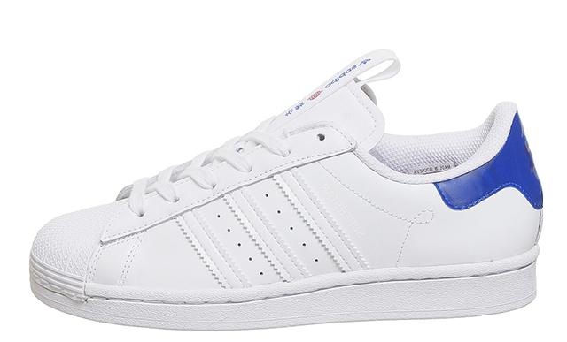 adidas Superstar White Blue London