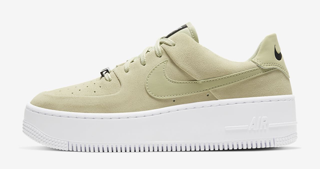 air-force-1-sage olive aura The Best Platform Sneakers: 11 Air Force 1 Sage Colourways For 2020