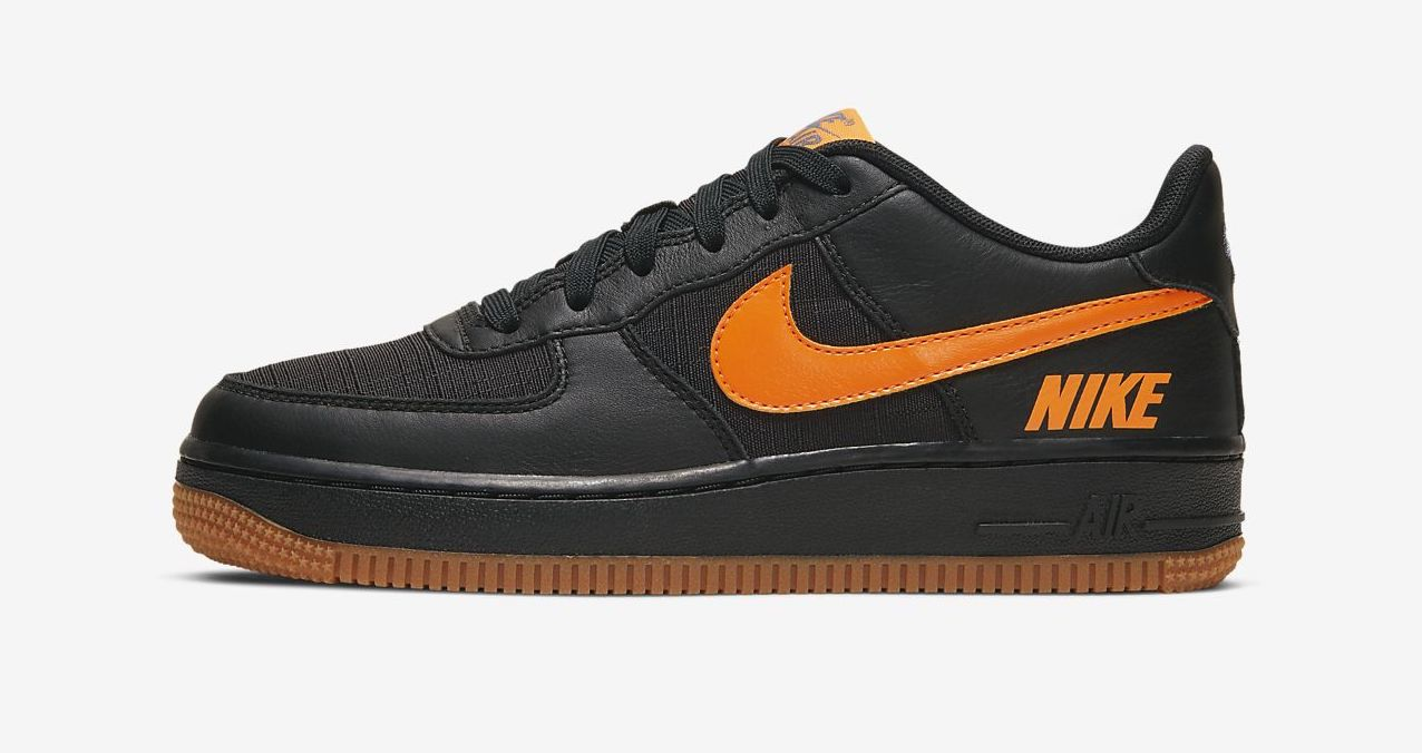 air force 1 waterproof black orange
