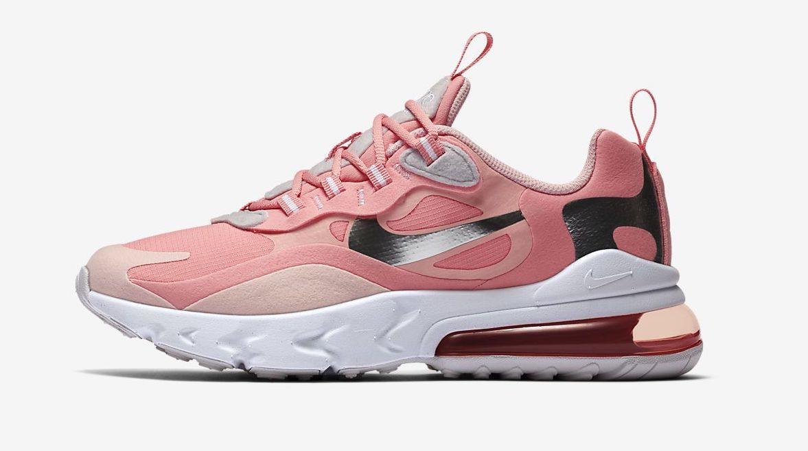 air max 270 react pink metallic silver