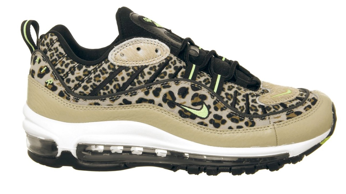 air max 98 leopard print black