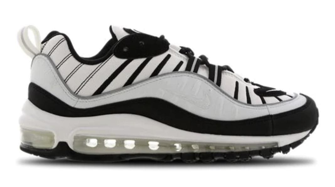 air max 98 white black