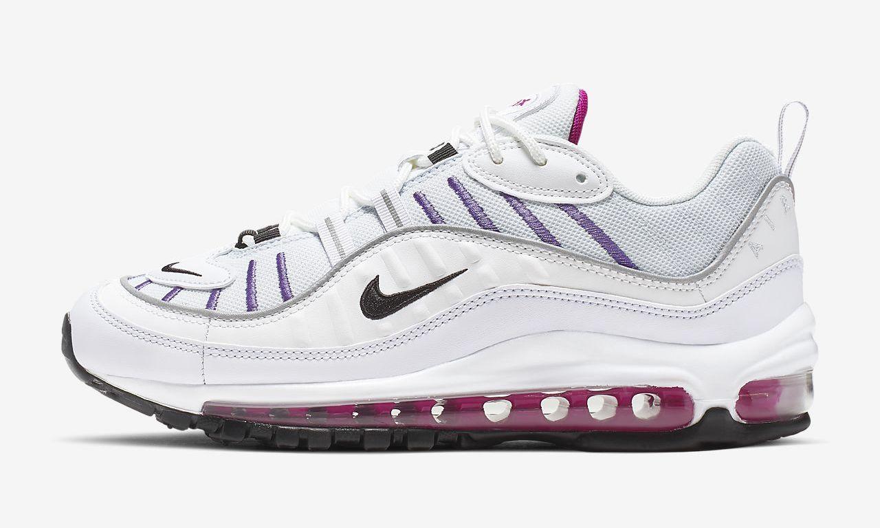 air max 98 white pink