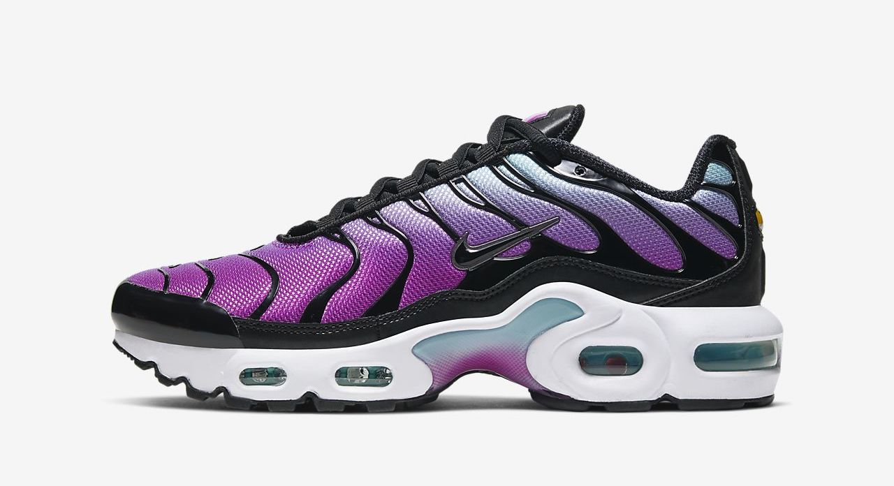 air max plus purple black