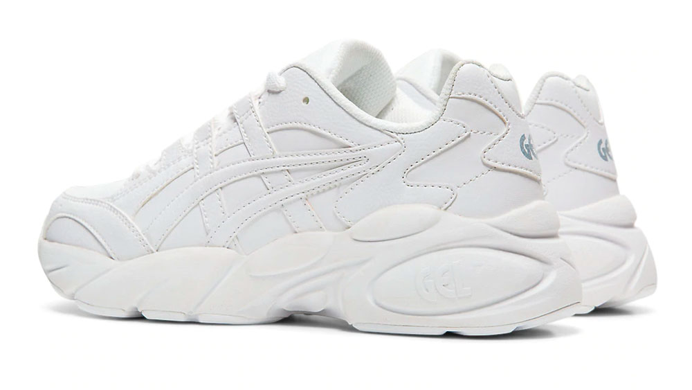 This Triple White ASICS GEL-BND Is The Chunky Sneaker You Never Knew You Needed heel