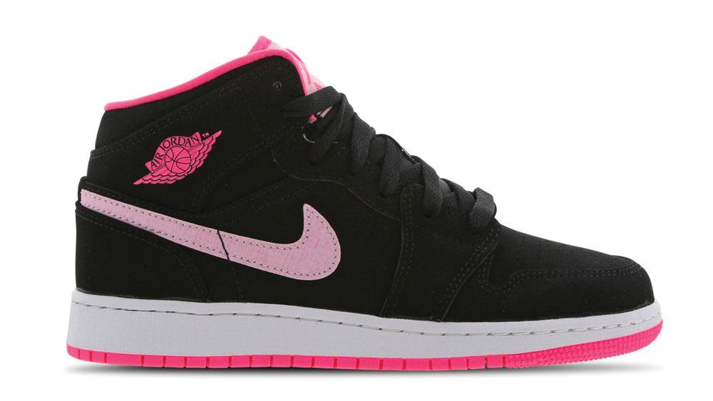 Air Jordan 1 Mid Black Pink