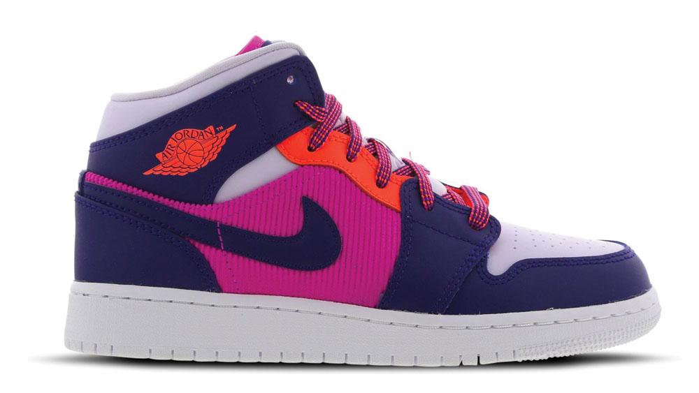 Air Jordan 1 Mid Pink Blue