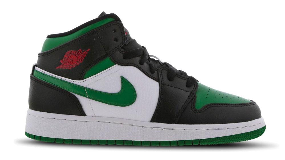 Air Jordan 1 Mid Black Green