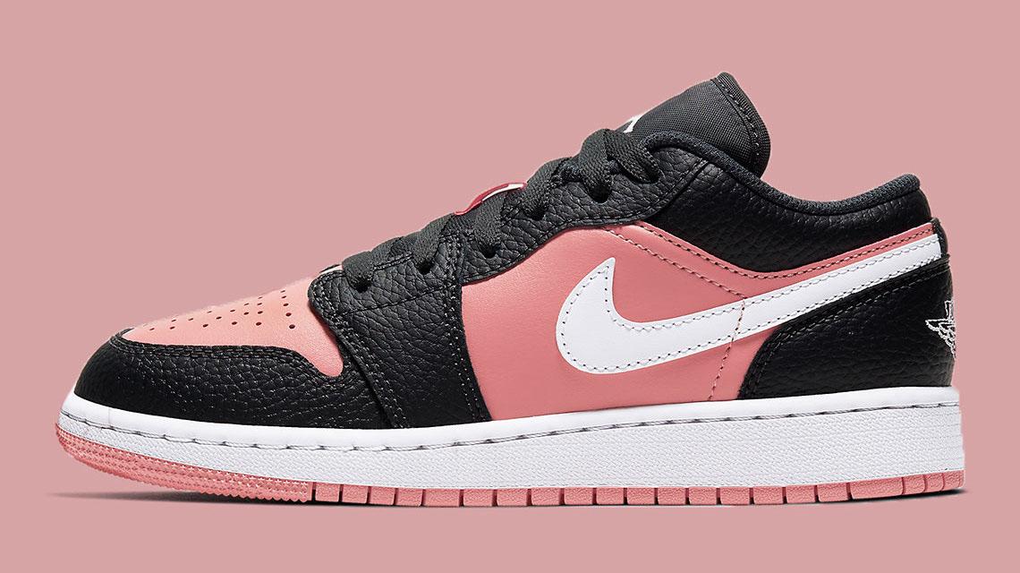 Pops Of Pink Brighten Up The Air Jordan 1 Low 'Pink Quartz ...