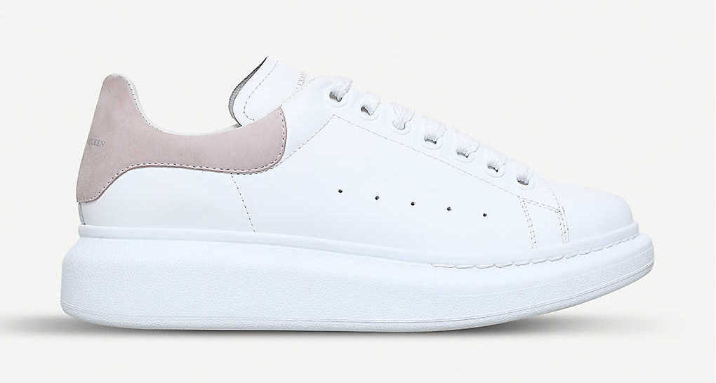 Alexander McQueen Runway Platform White Pink