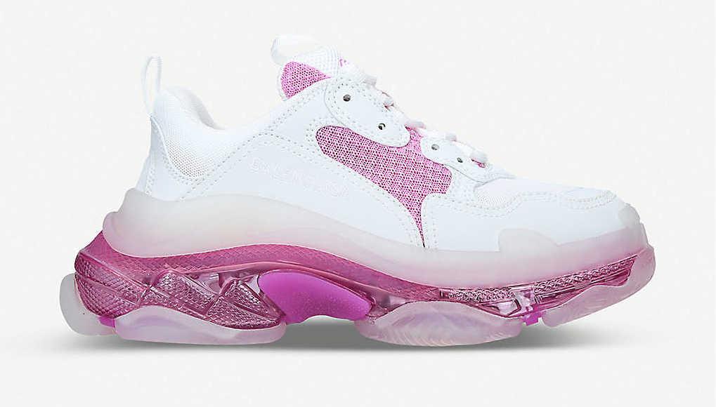Balenciaga Triple S White Pink Bubble