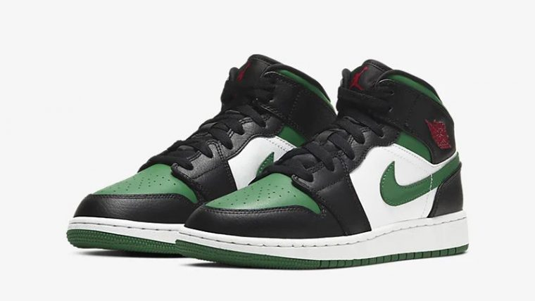 Jordan 1 Mid Pine Green Black 554725-067 front thumbnail image