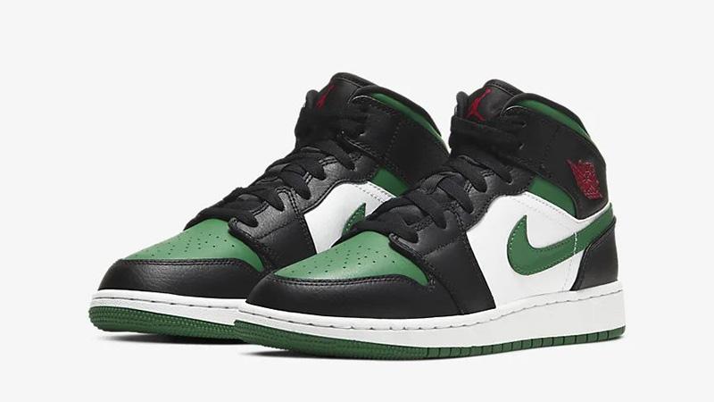 Jordan 1 Mid Pine Green Black 554725-067 front