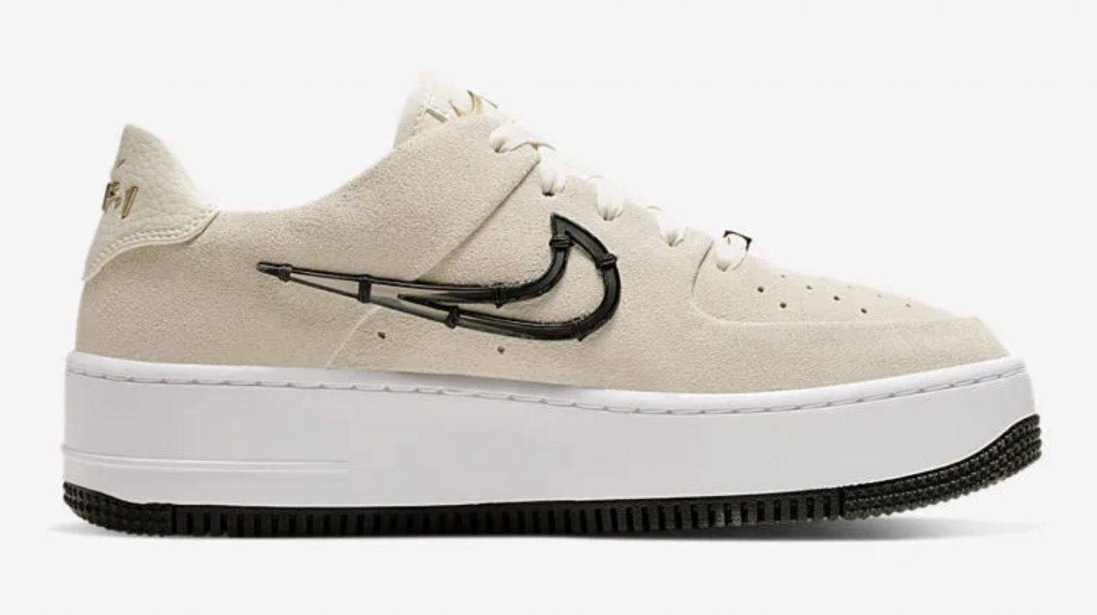 """NIKE WMNS AIR FORCE 1 SAGE LOW LX """"Light Cream"""" CI3482-200 5 right"""