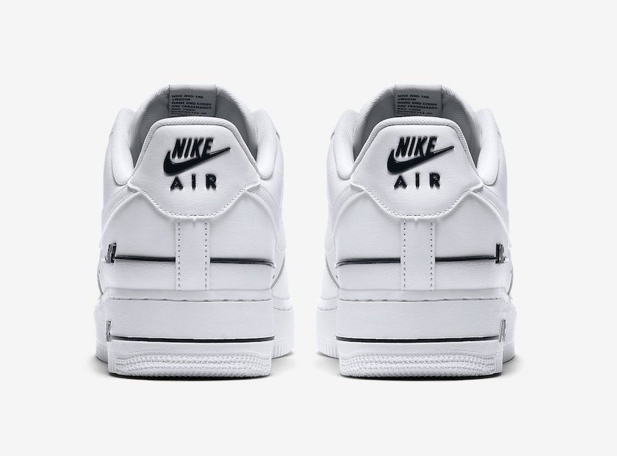 Nike Air Force 1 Low Double Air White Black back
