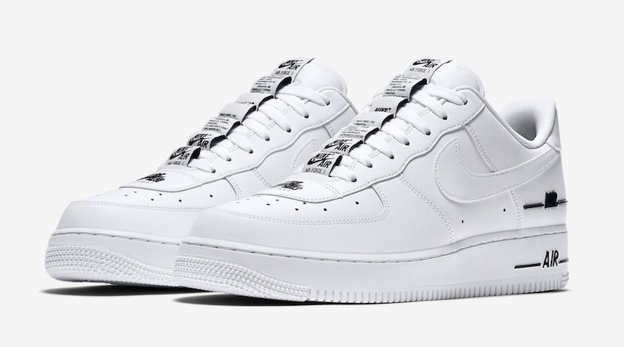 Nike Air Force 1 Low Double Air White Black. front