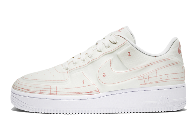 Nike Air Force 1 Low Schematic White CI3445 100Eneste kvinder CI3445 100 The Sole Womens