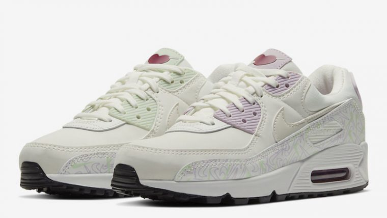 Nike Air Max 90 Valentines Day White CI7395-100 front thumbnail image