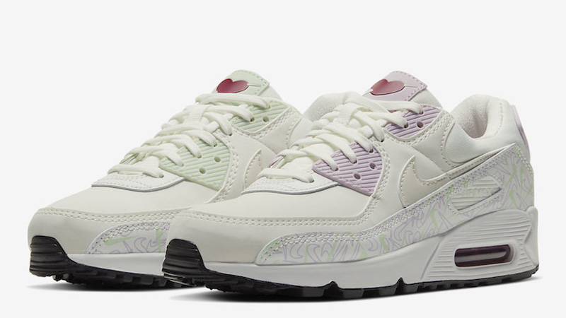 Nike Air Max 90 Valentines Day White CI7395-100 front