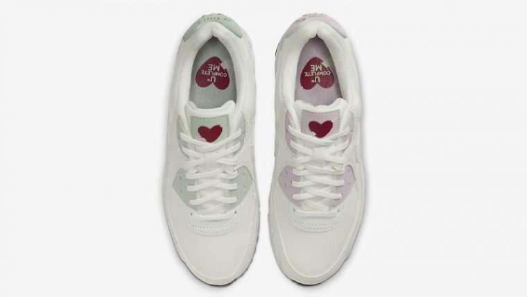 Nike Air Max 90 Valentines Day White CI7395-100 middle thumbnail image