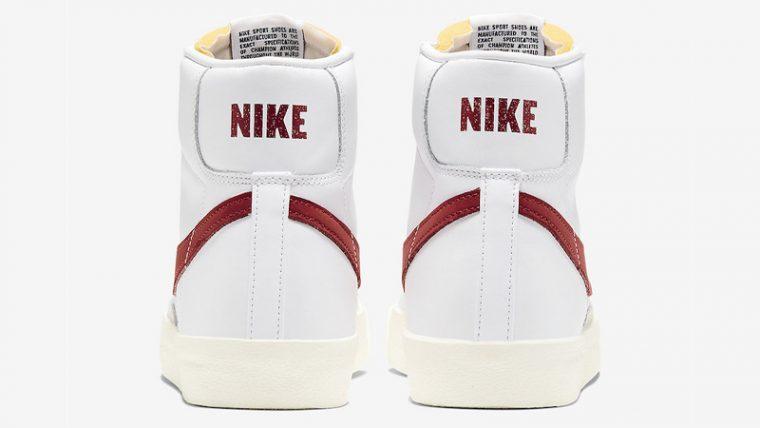 Nike Blazer Mid 77 White Red BQ6806-102 back thumbnail image