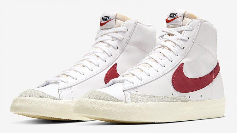 Nike Blazer Mid 77 White Red BQ6806-102 front thumbnail image