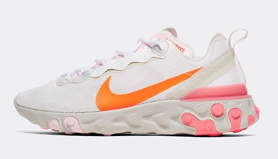 Nike React Element 55 White Digital Pink